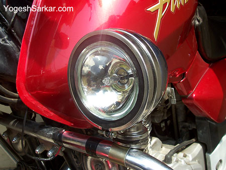 spot lamp that i fitted on my motorcycle