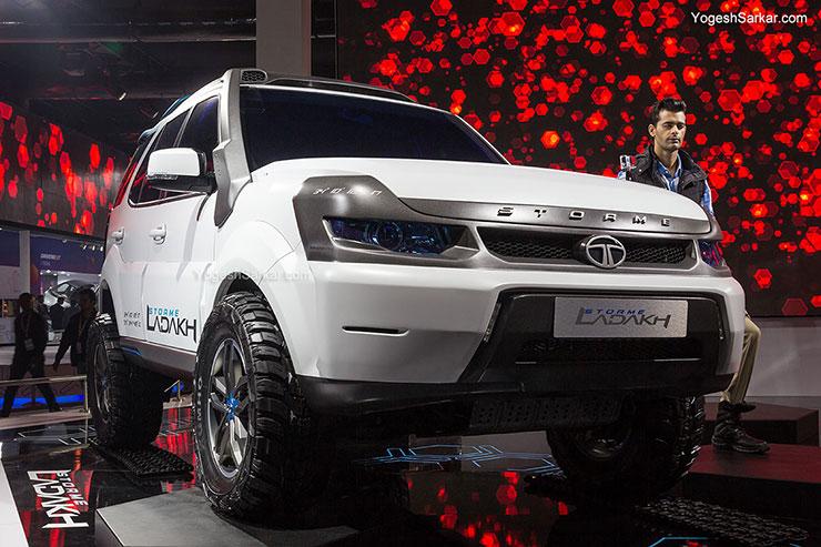 the Auto Expo The Motor Show 2014, Tata Motors displayed Safari Storme