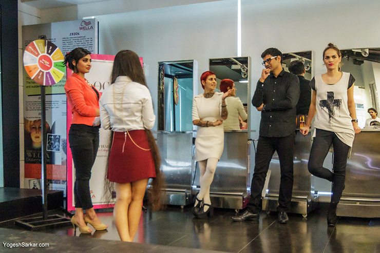 Q&A session with bloggers at Wella Professional's Blogger Meet