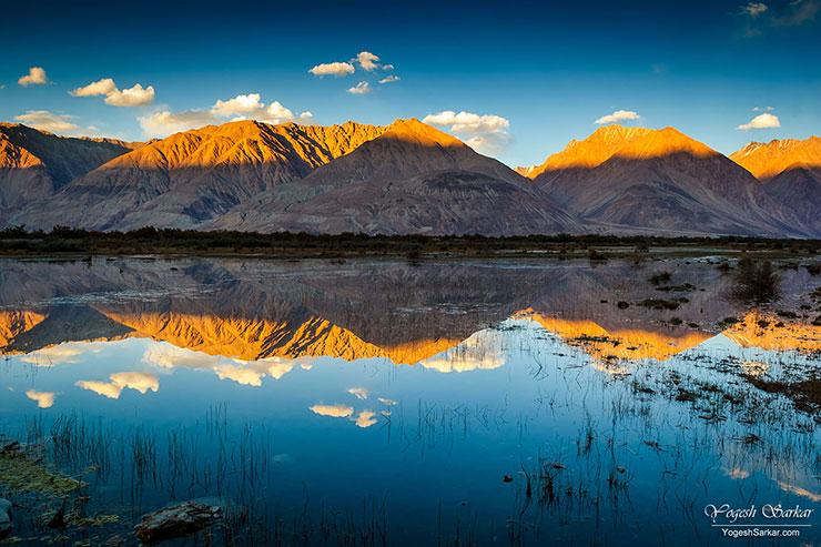 sunset-reflection-nubra