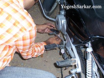 fixing motorcycle