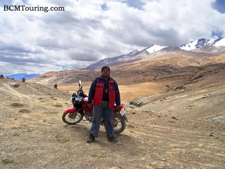 Me and my bike in Changthan region of Ladakh in 2006