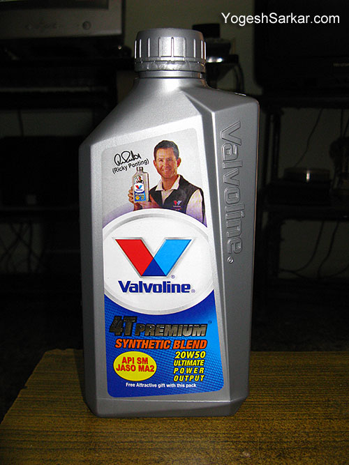 valvoline 4t premium motorcycle engine oil