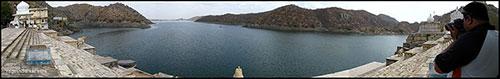 jaisamand lake panorama