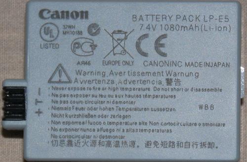 fake-canon lp-e5-battery-from-ebay-india