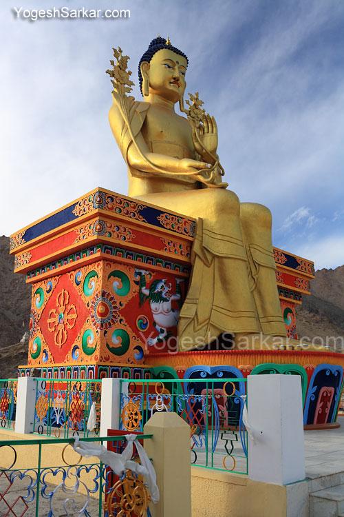 Buddha statue at Likir Monastery