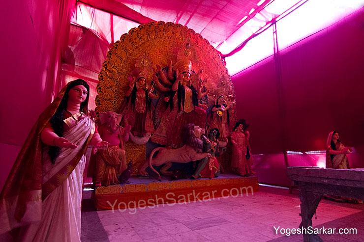 Durga Pratima at Kali Bari