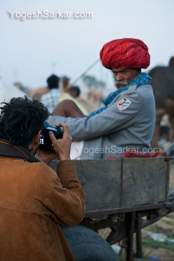 A photographer shooting with 50mm, shot with 50mm