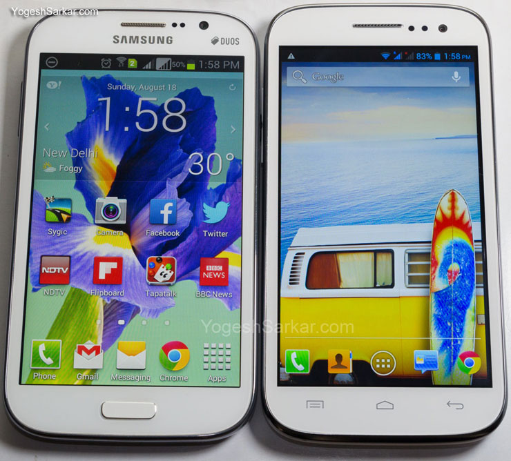 Samsung Galaxy Grand Duos and Micromax Canvas HD A116