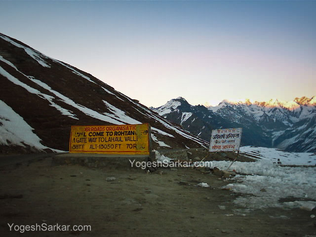 Rohtang Pass in November