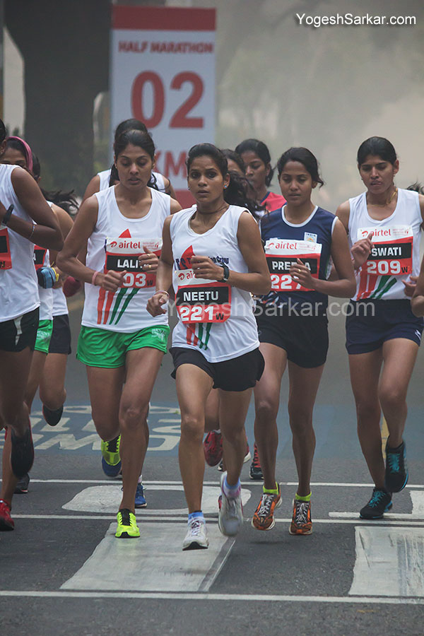 airtel delhi half marathon indian women elite