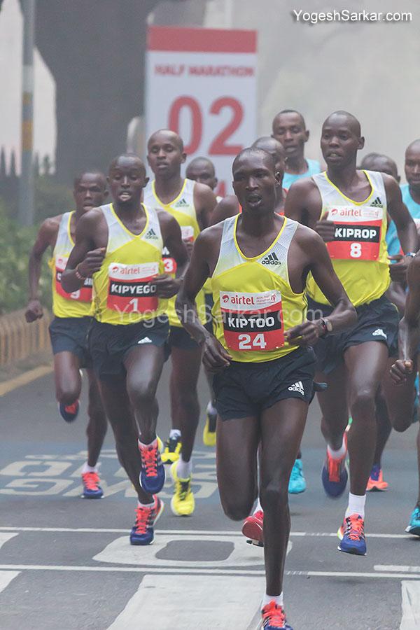 airtel delhi half marathon men elite