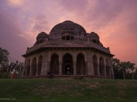 Muhammad Shah's Tomb, shot with Canon 60D and Tamron 17-50 f2.8 at f7.1, 1/25, 17mm and ISO640.