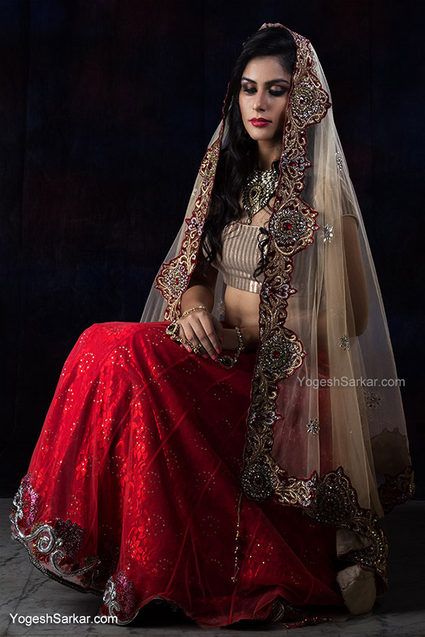 model-in-lehenga-choli