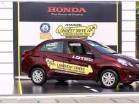 Honda Amaze drives into history books