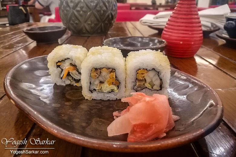 shitake sushi at cha-shi