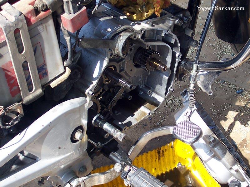 Got the motorcycle engine overhauled | - YogeshSarkar com